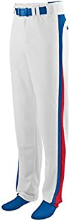 Travel Ball/All-Star/High School Pro Style Baseball Pants 2-Color Side Piping, Color Pockets, Back Belt Line (10 Youth & Adult Sizes)