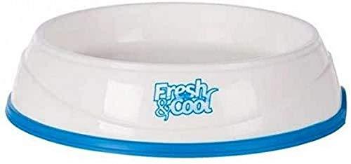 Trixie Fresh & Cool 24958 - Ciotola refrigerante, 0,25 l/ø 17 cm, colore: Bianco/Blu