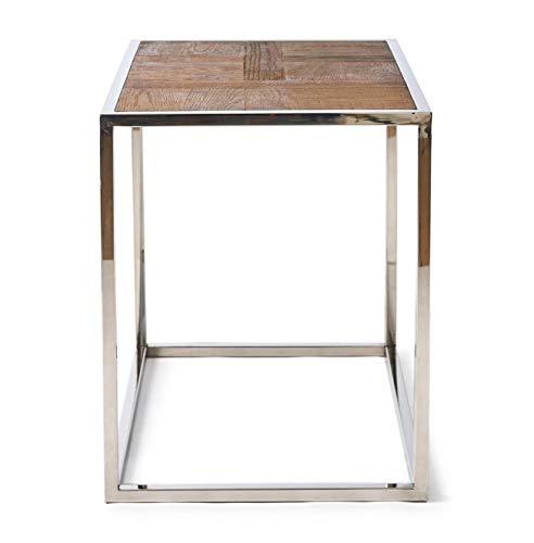 Riviera Maison - Bleeckerstreet End Table - Tisch Beistelltisch - recyceltes Eichenholz/Edelstahl - 65x45cm