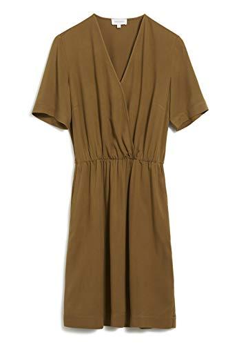 ARMEDANGELS AIRAA - Damen Kleid aus LENZING™ ECOVERO™ M Golden Khaki Kleider Web, Dresses Woven V-Neck Regular fit