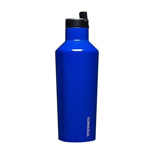 Corkcicle Canteen Sport Collection - Water Bottle & Thermos - Triple Insulated Shatterproof Stainless Steel, 40oz, Cobalt