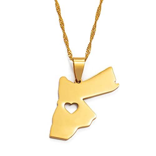 YZYZ Jordan Hashemit Kingdom Colgante Collar para mujer/hombre, regalo dorado #005621