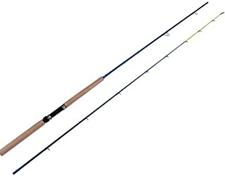 HELEE 2 Pieces Carbon Fiber Spinning Crappie Fishing Rods Freshwater Travel Bass Pole (8 Feet)