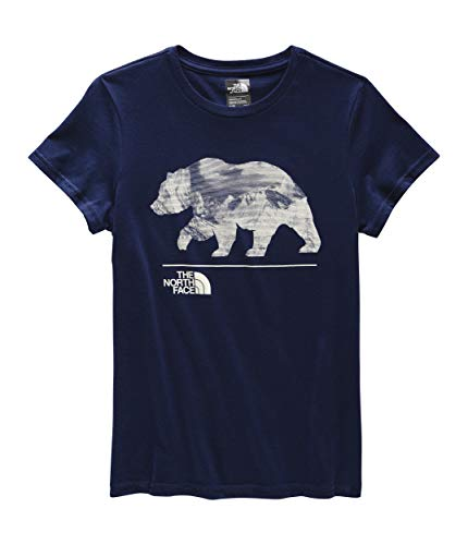 The North Face Girls' Short-Sleeve Graphic Tee, Montague Blue, S