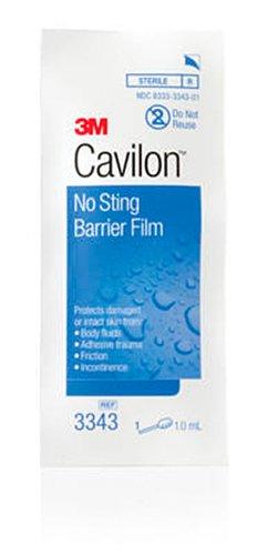 3M Cavilon No Sting Barrier Film 3343, 100 Applicators (4 Packs of 25)