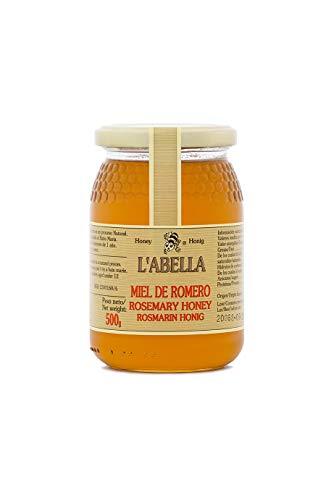 Rosmarinhonig aus Spanien - Premium Qualität - reines Naturprodukt - kaltgeschleudert - unfiltriert - leicht und würziger Geschmack - im Glas, Größe:500 g, Geschmack:Rosmarin