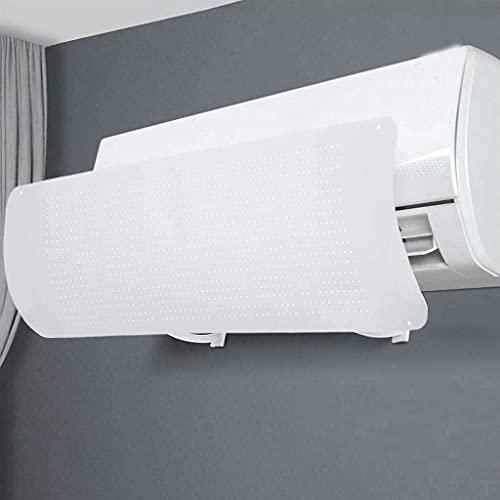 Deflettore Regolabile per climatizzatore Parabrezza Aria condizionata Scudo del condizionatore Freddo/Calda, per casa/Ufficio,Anziani, Neonati, Donne in Gravidanza - Bianco