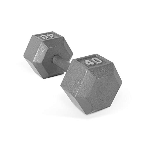 CAP Barbell Solid Hex Dumbbell, Single (40-Pound)