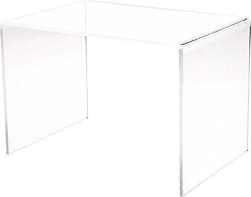 Best Plymor Clear Acrylic Rectangular Display Riser, 9 inch Height x 13.5 inch Width x 9 inch Depth (1/4