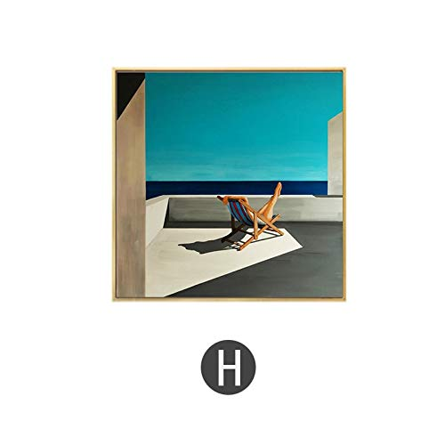 yiyiyaya David Hockney Artist Bigger Splash Fresh with Blue Swimming Pool Decoración para el hogar Poster Print Famous Wall Canvas Art For Living Room 60x60cm