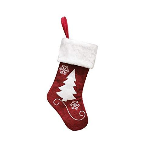Moda Navidad Negro Calcetines rojo Colgando Árbol de Navidad Decoración Adornos Año Nuevo Bolsa de caramelo Regalos Regalos Regalos Calcetines Decoración de Navidad (Color: B), Color: B Chongxiang