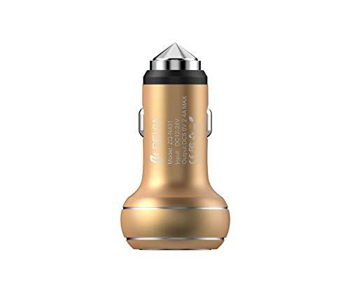 Cargador de Coche Doble Toma USB 2,4 A Acero Bronce