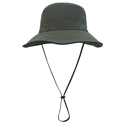 Sombrero Pescador para El Sol Unisexo UPF 50+ Anti-UV Vacaciones Viaje Playa Gorro De Pesca Pescador Verano ProteccióN Ajustable Sombrero De Al Aire Libre (Color : Ivy Green)