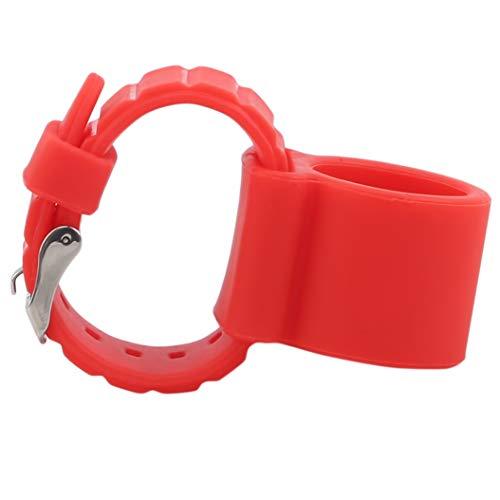 LPOQW Correa de reloj de silicona de liberación rápida de repuesto para hombres y mujeres, color rojo