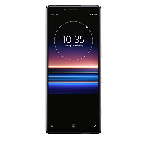 Sony Xperia 1 128 GB Smartphone (16, 5 cm (6, 5 Zoll) OLED Display, Triple-Kamera, IP65/IP68, 6 GB RAM, Android 9) Schwarz
