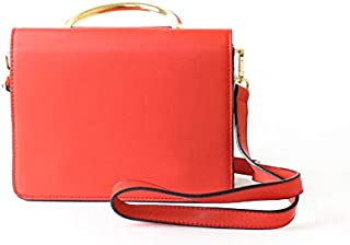 لينز حقيبة طويلة تمر بالجسم نسائية ، جلد صناعي - احمر