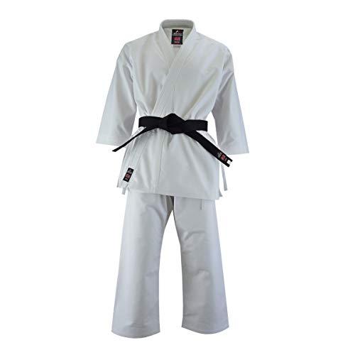 Malino Professioneller Karateanzug für Erwachsene, Canvas, 400 g, einseitig pfirsichfarben, Größe 4/170, Weiß