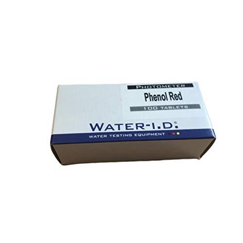 Water-I.D. 100 tabletas de fenol Rojo para fotómetro.