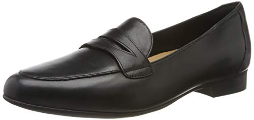 Clarks Damen Un Blush Go Slipper, Schwarz (Black Leather), 43 EU