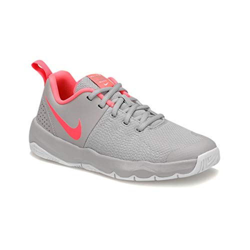 Nike Team Hustle Quick (GS), Scarpe da Basket Bambino, Multicolore (Atmosphere Grey/Racer Pink-White 010), 37.5 EU