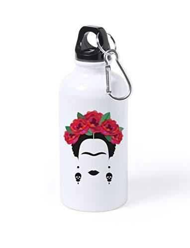 Termo Botella de Agua - Frida Khalo Jarra 500ML,Regalo Cantimplora Aislado Cafe para Llevar Bidón Botella de Aluminio