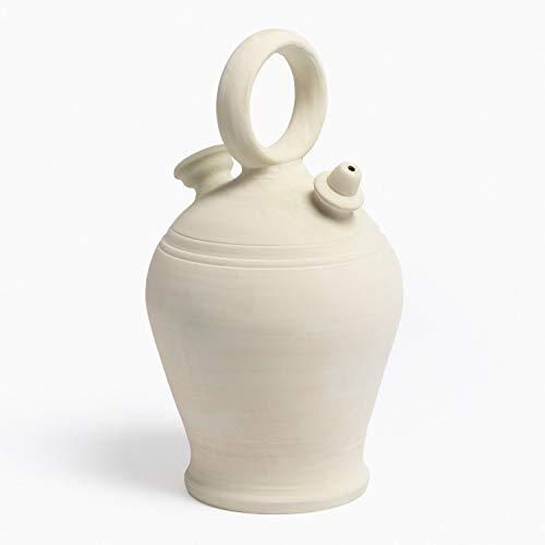 SKLUM Botijo en Arcilla 6 L. Cantiroh Arcilla Blanco - (Elige Color)