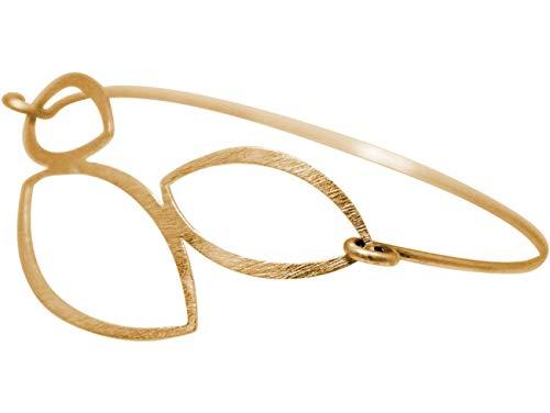 Gemshine YOGA Lotusblumen Armband. 925 Silber, hochwertig vergoldet, rose vergoldet. Made in Madrid/Spain. Nachhaltiger, qualitätsvoller Schmuck, Metall Farbe:Silber vergoldet