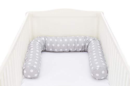 Fillikid Tour de lit serpent 180 cm tour de lit tour de lit bébé, pois gris