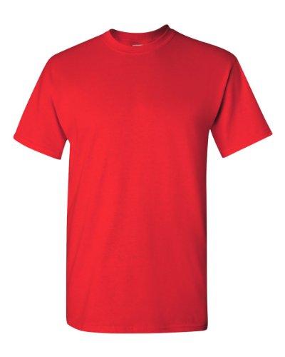 Gildan - Camiseta de algodón pesado de 5 onzas (G500), color rojo