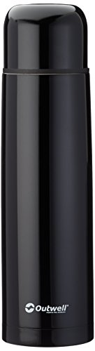 Outwell agita 1.0L Bouteille Isotherme, Noir, One Size