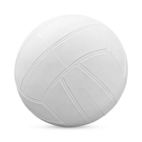 Botabee Swimming Pool Standard Size Water Volleyball   Pool Volleyball for Use with Dunnrite, Intex, Swimways or Other Pool Volleyball Sets (Classic White, 7.87