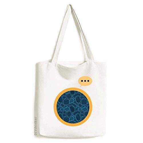 Blue Microscope Cells Structure Illustration Expression Gift Sack Canvas Tote Shoulder Bag