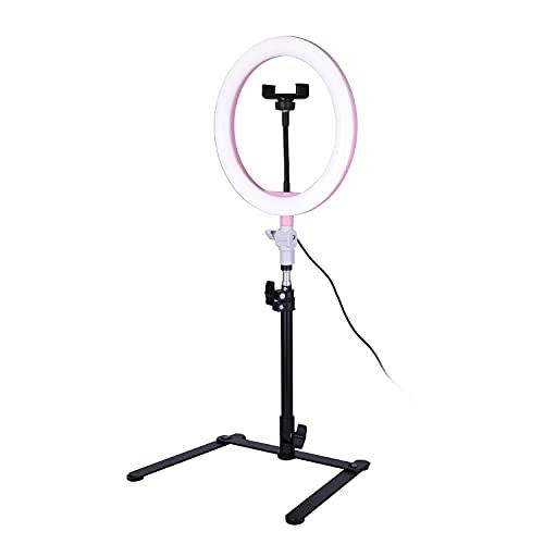 Anillo de luz de 10 Pulgadas con Soporte y Soporte para teléfono, luz de Anillo de transmisión de 120 cm para TikTok Youtube Vlogging Foto Video Maquillaje Selfie