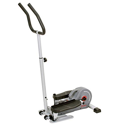 Product Image 15: Sunny Health & Fitness Magnetic Standing Elliptical with Handlebars – SF-E3988, Grey