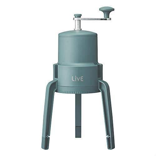 【】 ドウシシャ 氷かき器 手動 LivE 【かちわり手動かき氷器】 収納袋付き 製氷カップ付き グリーン