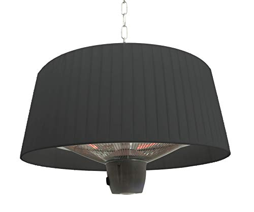 Jet-line Lámpara eléctrica de techo para terraza, lámpara de infrarrojos para exteriores, calefacción, para jardín, terraza, balcón, color negro