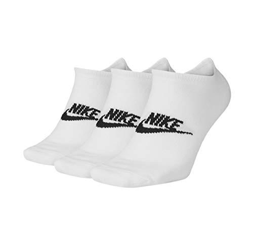 Nike Essential No-Show Socks Socken 3er Pack (M, white/black)