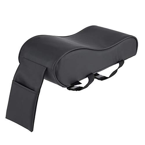 KIMISS Almohadilla de Reposabrazos universal de cuero [Espuma de memoria] - Estera auto del amortiguador - Cubiertas con bolsillo para celular