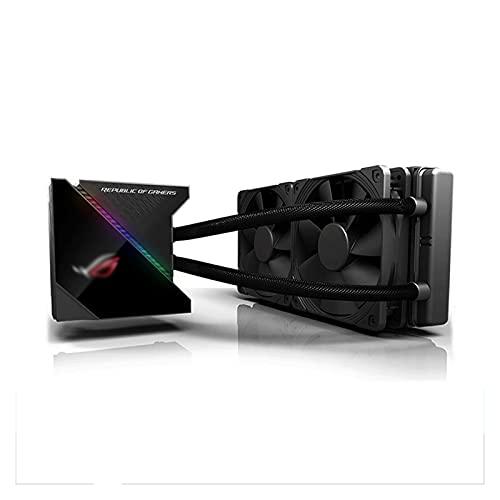 DEALBUHK ROG Player 240/360 All-in-One Radiador refrigerado por agua RGB Computadora de escritorio CPU CHASIS CHASIS DE ESCRIA FRÍO EXTENTIÓN FORMENTE CON PANTALLA OLED Forma de la búho alto rendimien