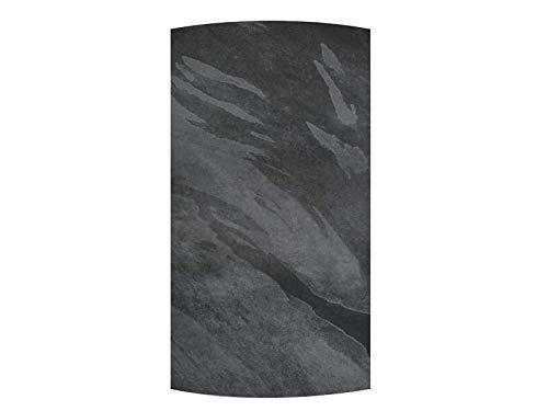 Silex - Radiador de inercia de piedra Dual Kherr Curve 2.0 vertical (1000 W), color negro