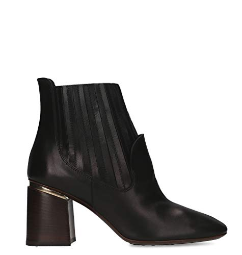Tod's Luxury Fashion Damen XXW11B0AA40GOCB999 Schwarz Leder Stiefeletten | Jahreszeit Permanent