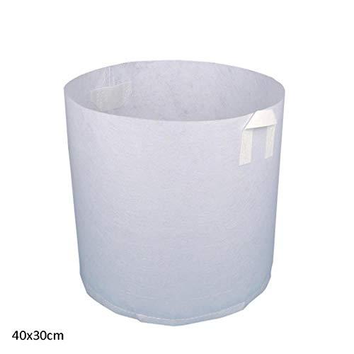 Schepen in de hele tank plantenweefsels beluchting 5 zakgrootte geweven Pot groeien witte wortel container,40x30cm