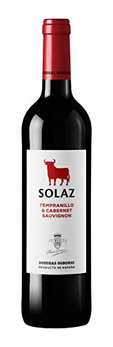 Vino Tinto D.O. Tierra De Castilla Solaz tinto variedad uva Tempranillo y Cabernet Sauvignon 75 cl
