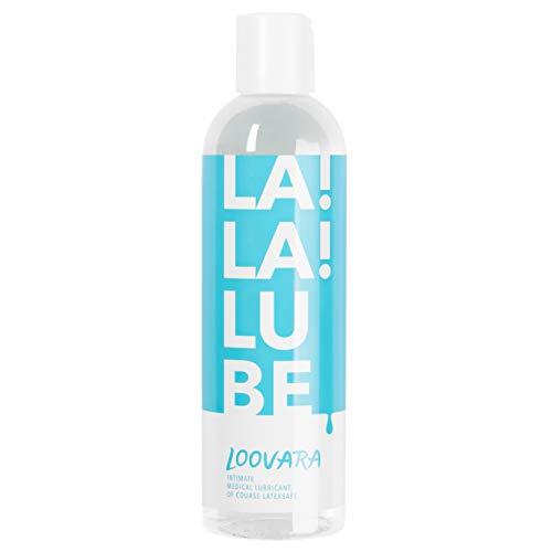 Loovara LaLaLube - Gel lubricante a base de agua, gel íntimo medicinal, máxima sensibilidad y delicado con la piel, sin sabor ni perfumes, no mancha, para el sexo y la masturbación, 250 ml