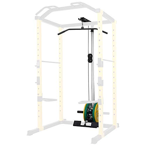 HulkFit Lat Pull-Down and Low Row Attachment for HulkFit Multi-Function Adjustable Power Cage, 500-Pound Capacity