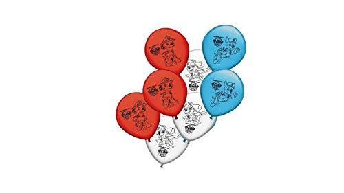 2669; pak 8 Paw Patrol-ballonnen; Pootpatrouille; Ideaal voor het versieren van feesten en verjaardagen.