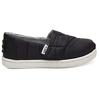 TOMS Kids Black Quilted Tiny Classics 10012566 (Size: