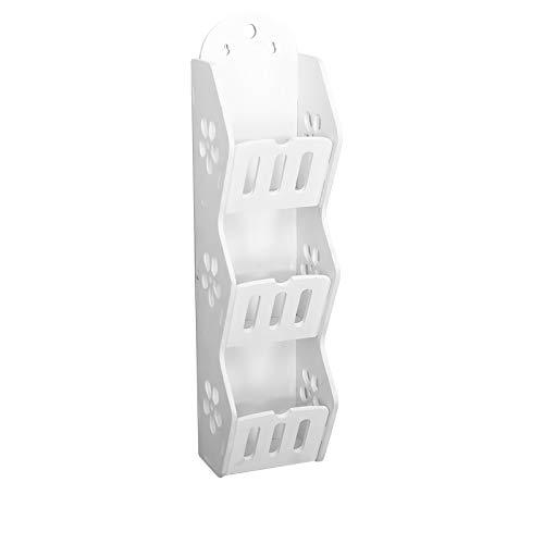 SANON Estante de almacenamiento de baño, estante de pared de 3 niveles para dormitorios, sala de estar, comedor, 45 x 7 x 11 cm
