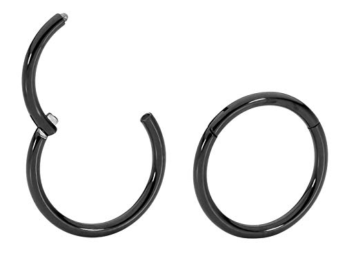 365 Sleepers 1 Paar Titan 18G (dünn) Klappsegment Ring Creolenschläfer Ohrringe Body Piercing 5 mm / 6 mm / 7 mm / 8 mm / 9 mm / 10 mm / 11 mm / 12 mm / 13 mm