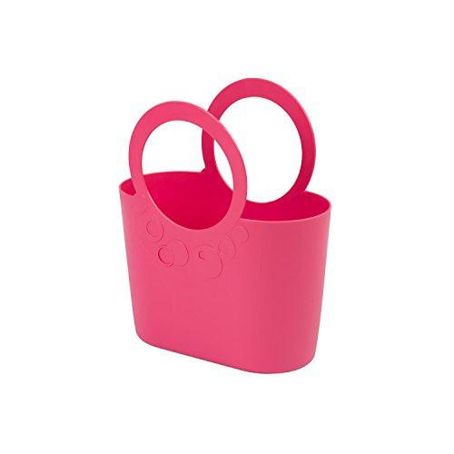 moderne Handtasche 3,8 L Picknickkorb rosa Size M Griffe Lily Strandtasche Tasche Basket
